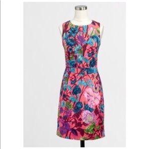 JCrew Pink Floral Sheath Dress
